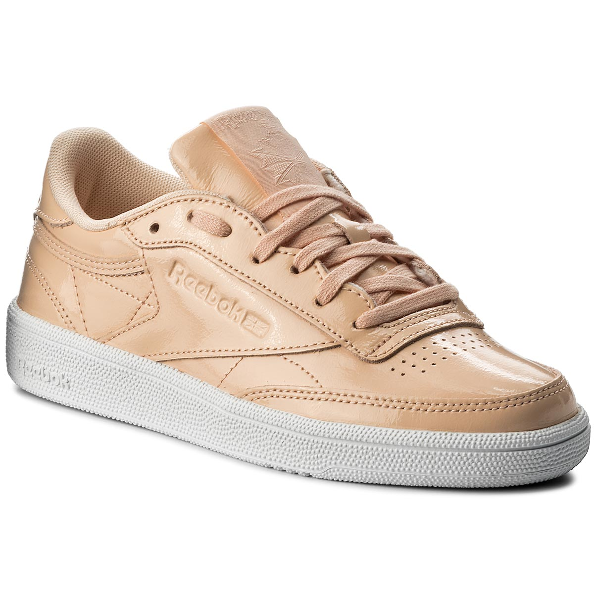 Image of Scarpe Reebok - Club C 85 Patent BS9778 Desert Dust/White