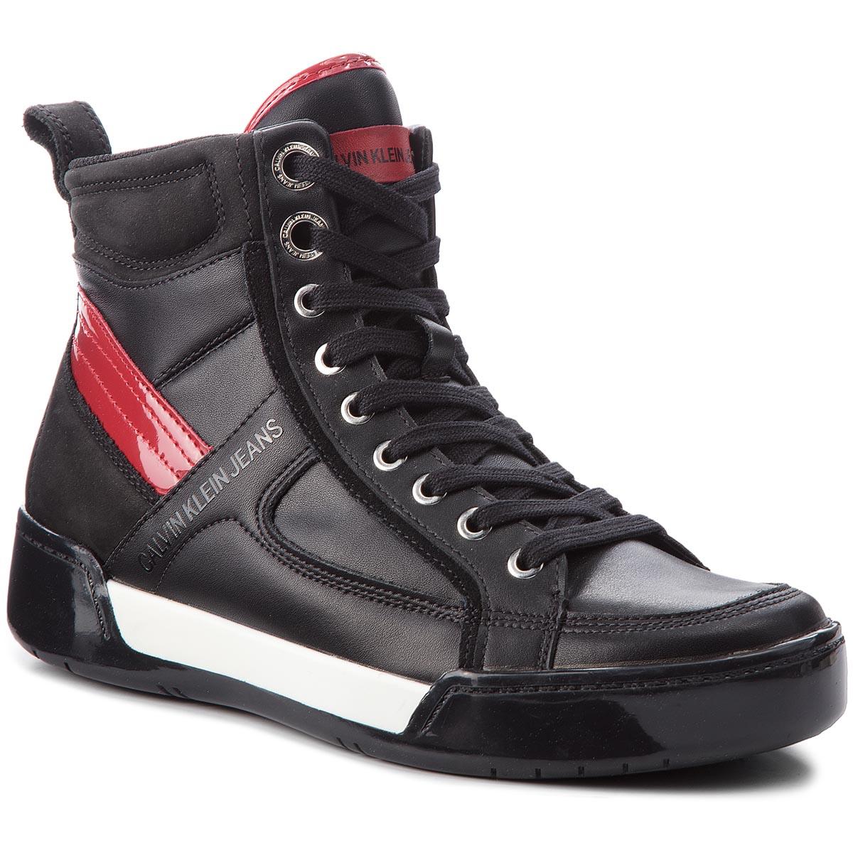 Image of Sneakers CALVIN KLEIN JEANS - Nicola S1774 Black/Black/Scarlet