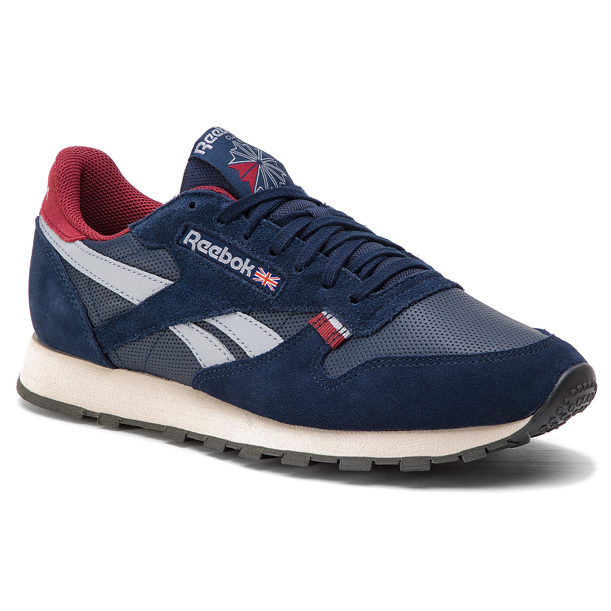 Image of Scarpe Reebok - CL Leather Mu CN7178 Navy/Red/Stucco/Grey