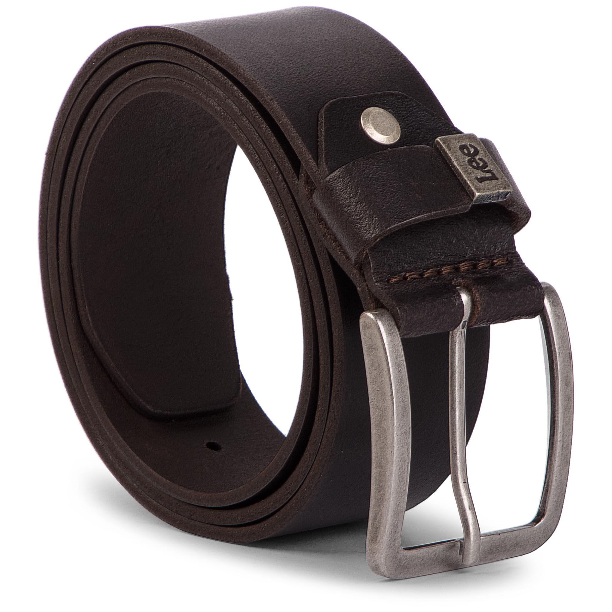Image of Cintura da uomo LEE - Small Logo Belt LA035324 85 Dark Brown