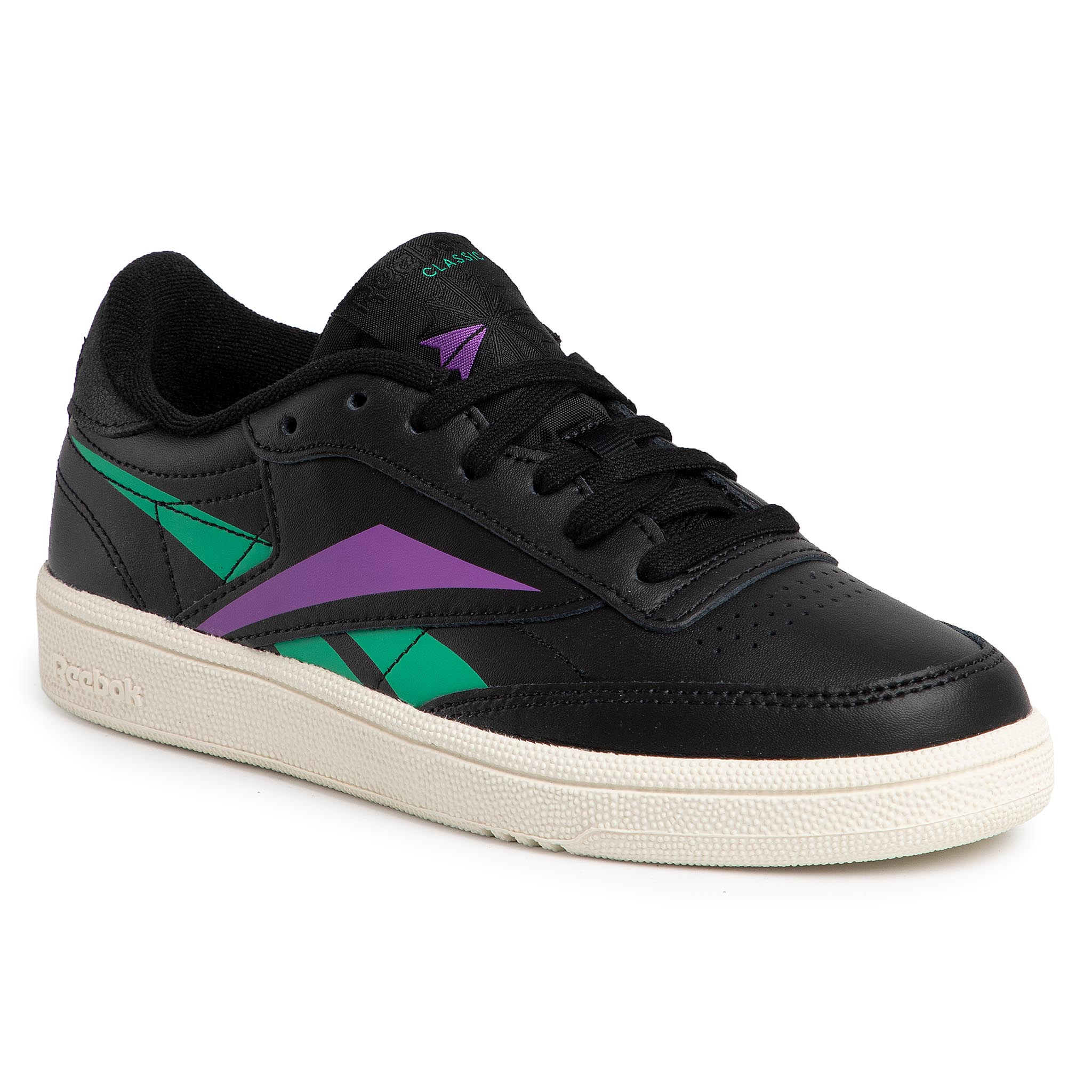 Image of Scarpe Reebok - Club C 85 DV7251 Black/Emeral/Grapun