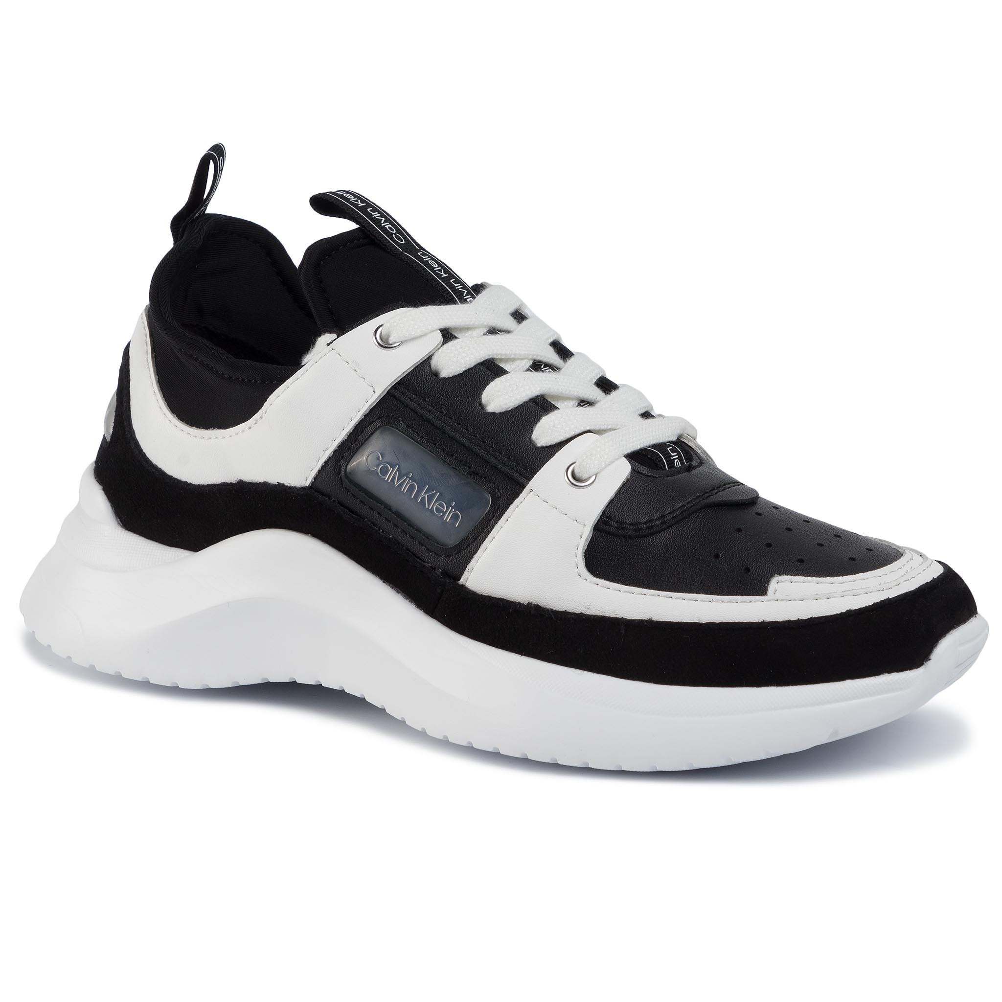 Sneakers CALVIN KLEIN - Ultra Low Top Lace Up Neop B4E4936 Black/White