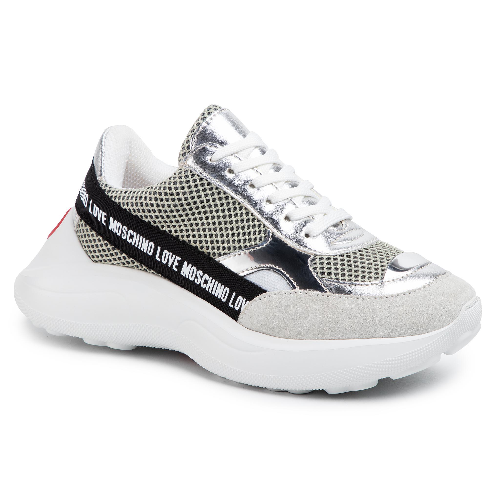 Sneakers LOVE MOSCHINO - JA15086G1AIO210A  Bia/Arge/Perla