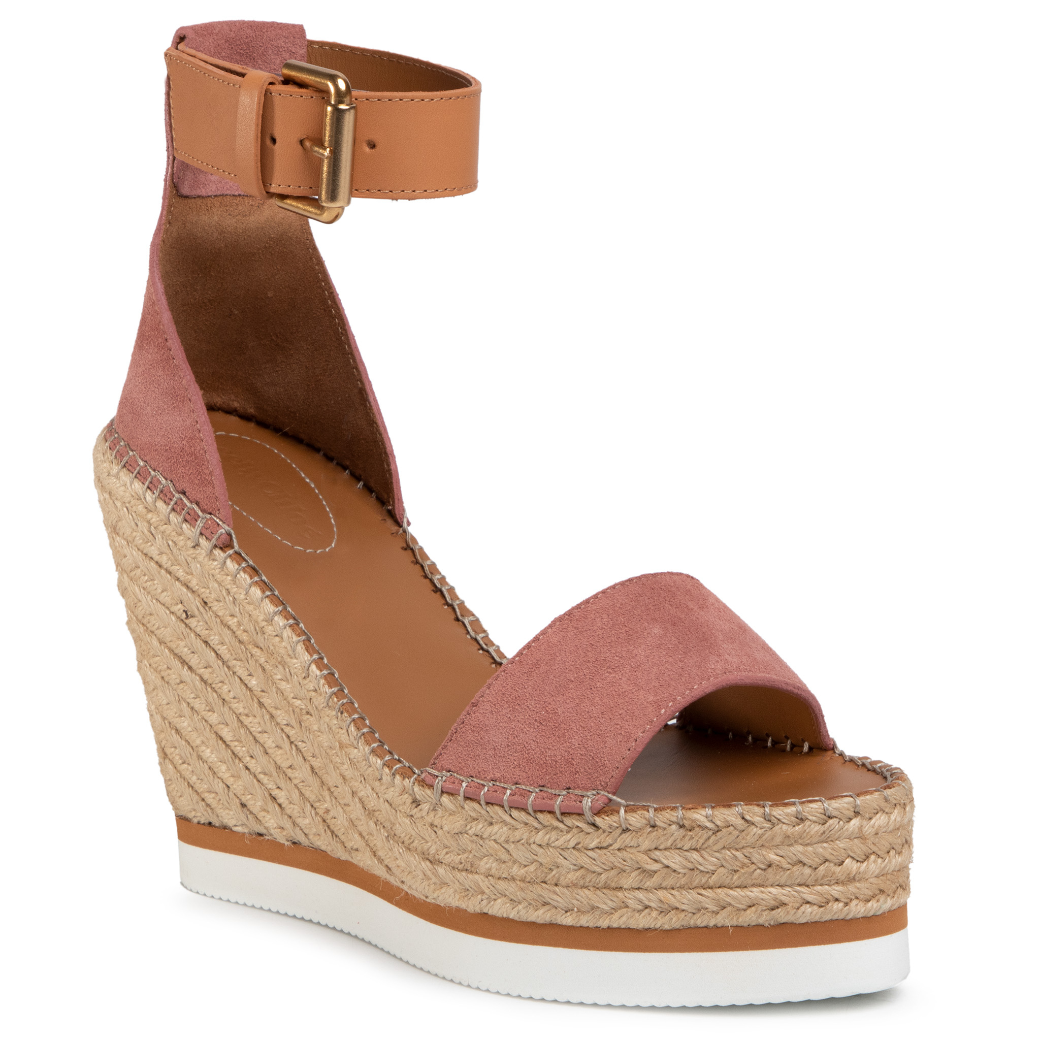Image of Espadrillas SEE BY CHLOÉ - SB26152 Crosta 323/Dark Pink/Nat. Calf Light 533