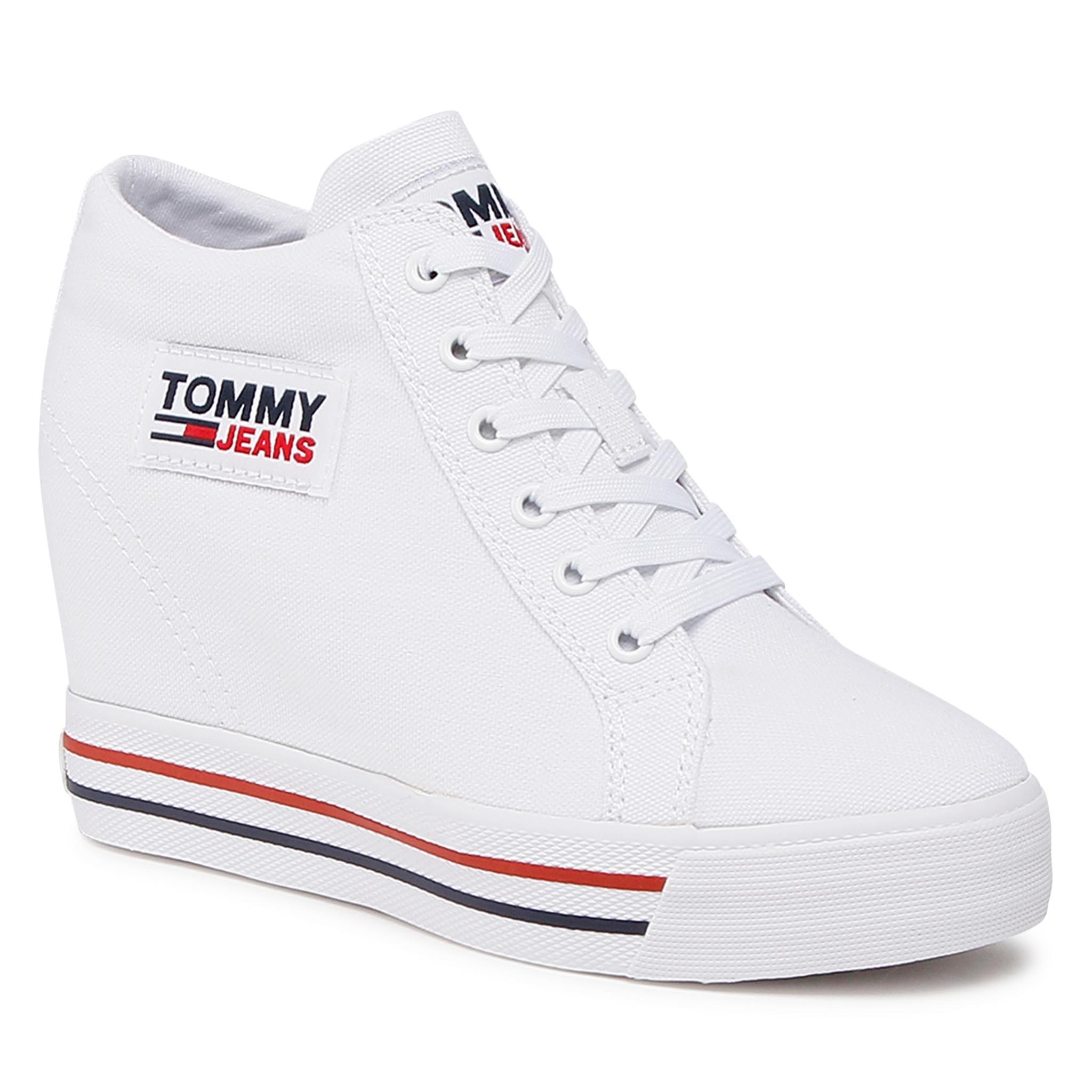 Sneakers TOMMY JEANS - Wedgr Sneaker EN0EN01346 White YBR