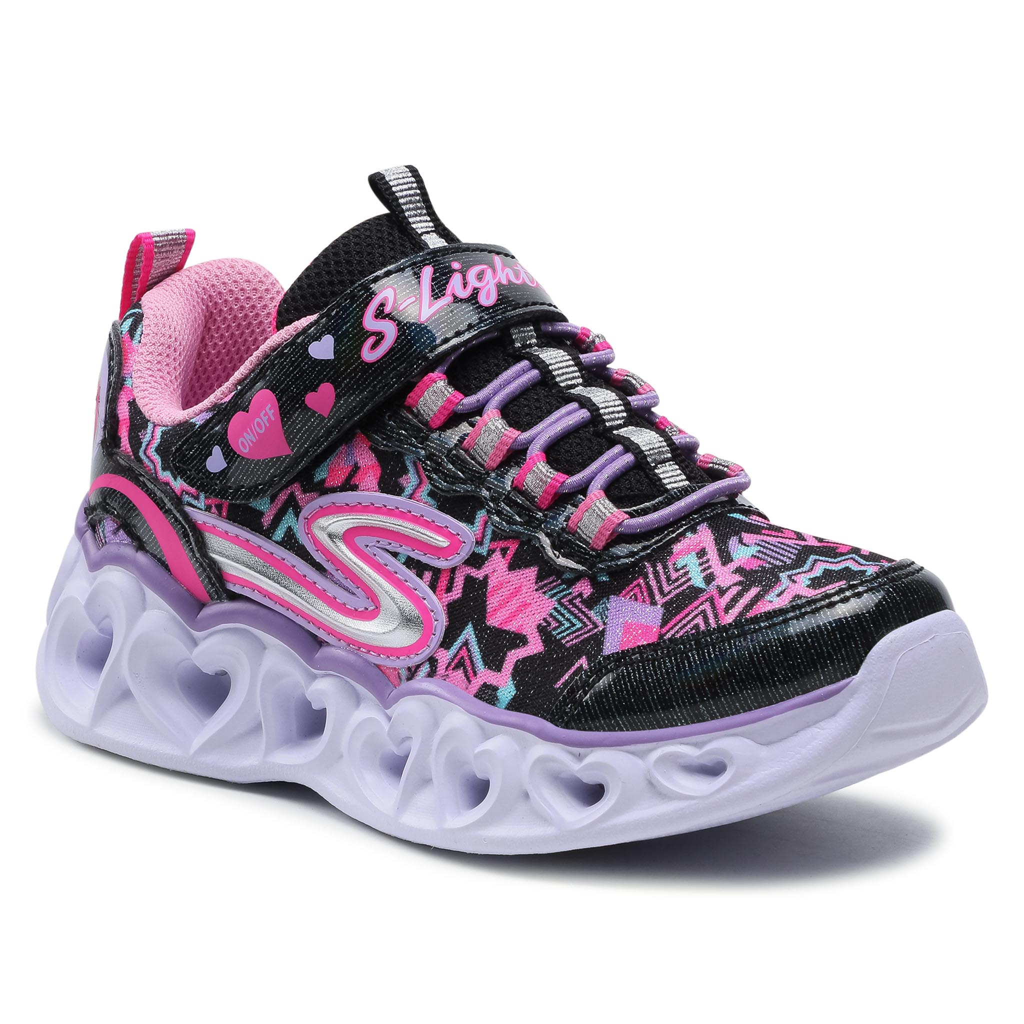 Sneakers SKECHERS - Heart Lights 20180L/BKMT Black/Multi