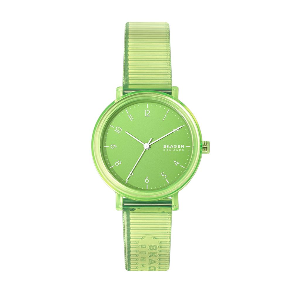 Image of Orologio SKAGEN - Aaren Transparent Three SKW2857 Green