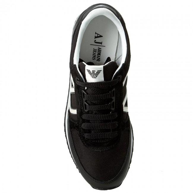 12 basse Sneakers JEANS Scarpe giorno 48 C6512 Black ARMANI Da qaBwa1I