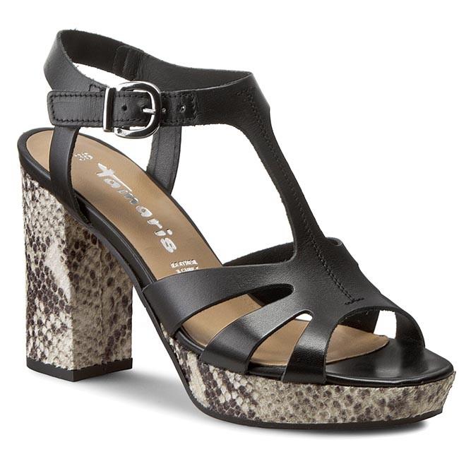 Sandali TAMARIS - 1-28011-36 nero 001 - Sandali da giorno - Sandali - Ciabatte e sandali - Donna | promozione  | Scolaro/Signora Scarpa