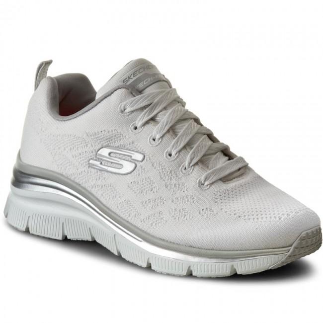 12703wht White Scarpe Chic Style Skechers Sneakers qO8pR