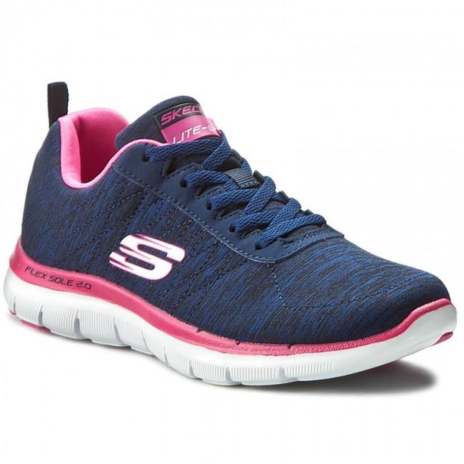 7e1e12d49b967 Scarpe SKECHERS - Flex Appeal 2.0 12753 NVPK Navy Pink - Basse ...
