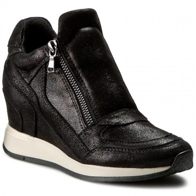 7ba7e0464d4f7 Sneakers GEOX - D Nydame A D620QA 000MA C9999 Black - Da giorno ...