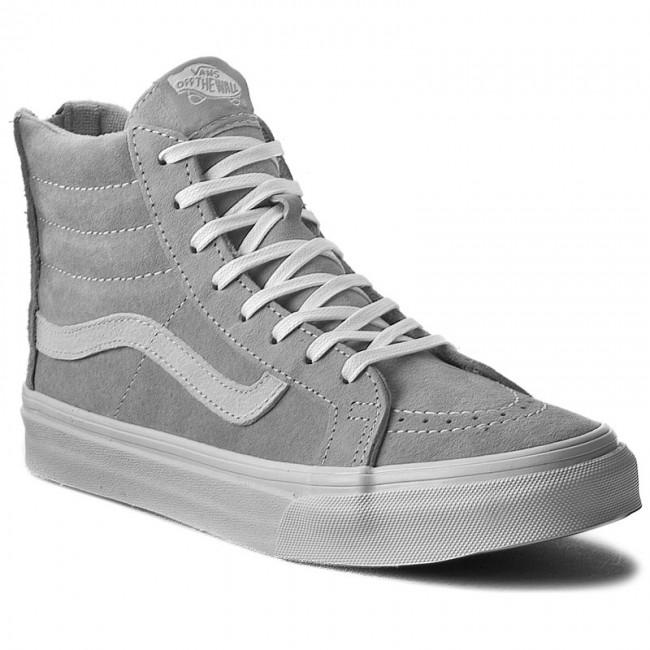 Hi Sk8 Zip Sneakers Vans Grey Slim Vn000hx8jv9scotchgardCool 534ALRj