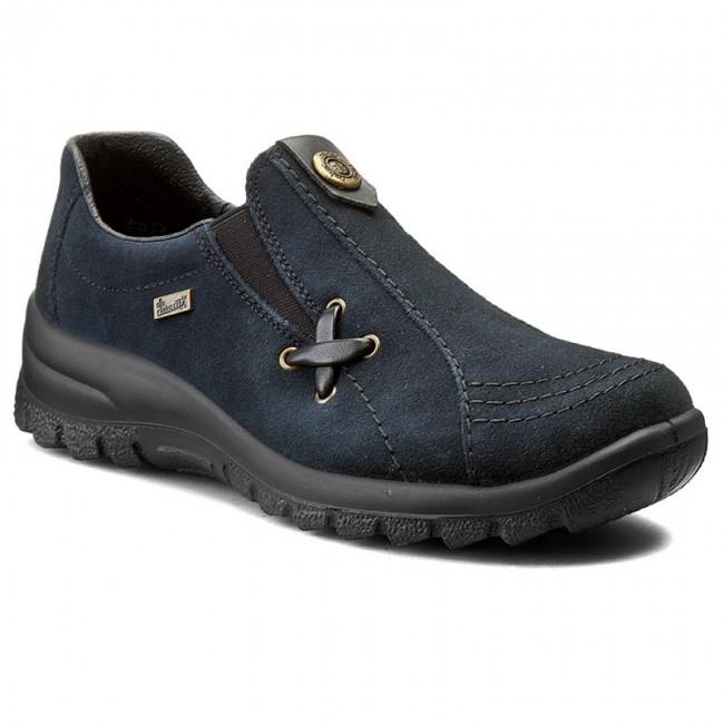 Scarpe basse RIEKER - L7171-14 blu - Con tacco a zeppa - Scarpe basse - Donna | Ricca consegna puntuale  | Uomo/Donne Scarpa
