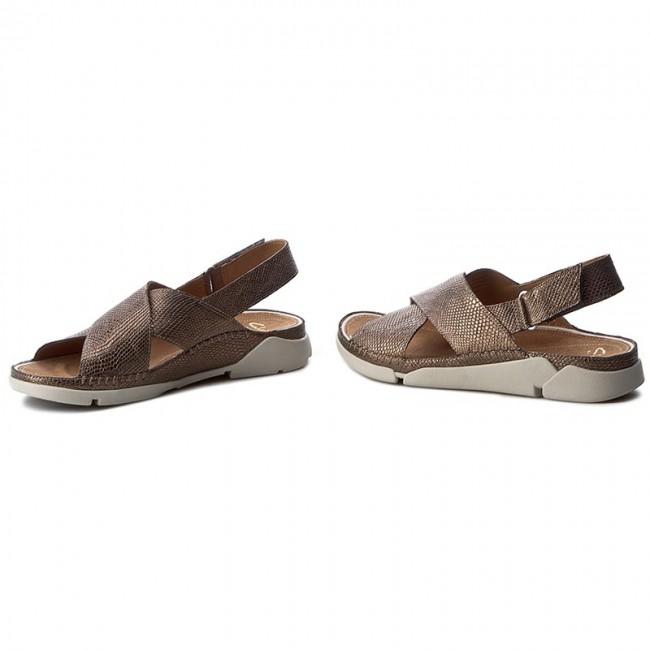 Sandali CLARKS Tri Alexia 261241644 Metallic Leather