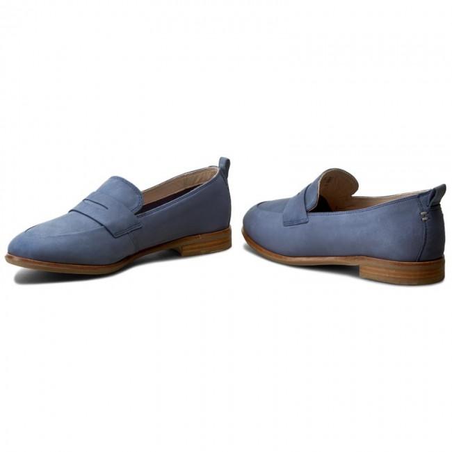 Scarpe basse CLARKS - Alania Belle 261258544 Blue Nubuck - Basse ... 1e50feab055
