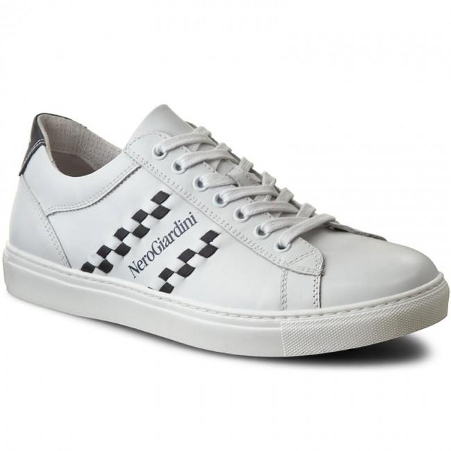 Sneakers NERO GIARDINI - P704930U Bianco Blu 707 - Sneakers - Scarpe ... c570a0ea510