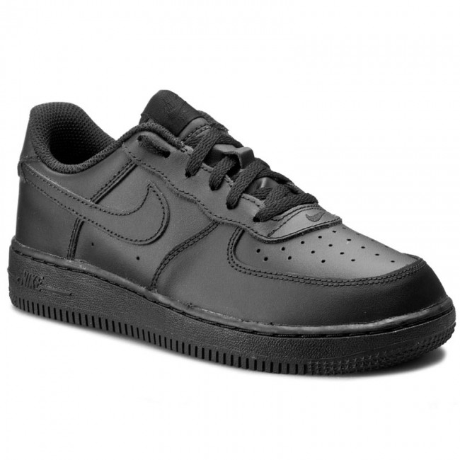 Scarpe NIKE - Force 1 (PS) 314193 009 Black Black Black - Stringate ... cdc962a5de6