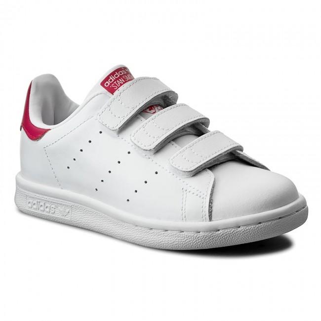 Scarpe adidas - Stan Smith Cf C B32706 Ftwwht/Ftwwht/Bopink