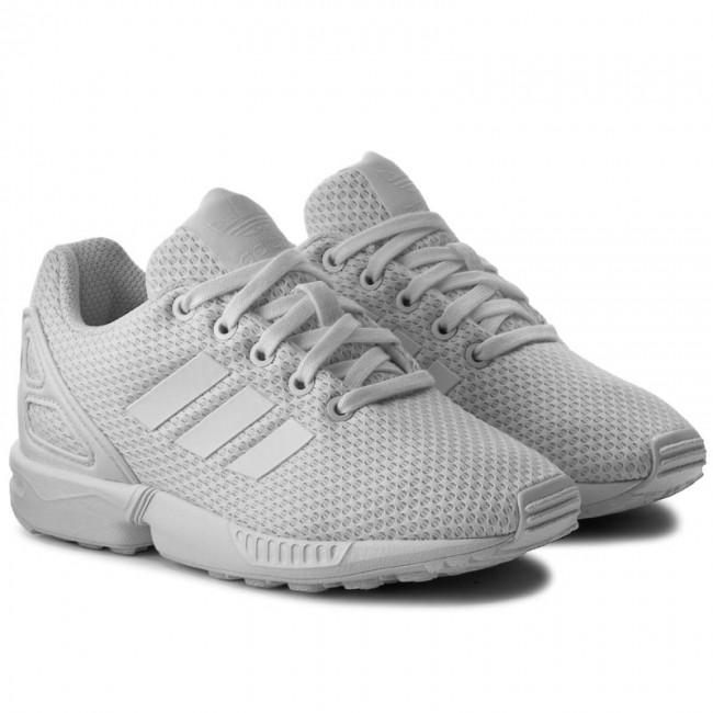 Scarpe adidas - Zx Flux C S76296 Ftwwht Ftwwht Ftwwth - Stringate - Scarpe  basse - Bambina - Bambino - www.escarpe.it 3491f19cec5