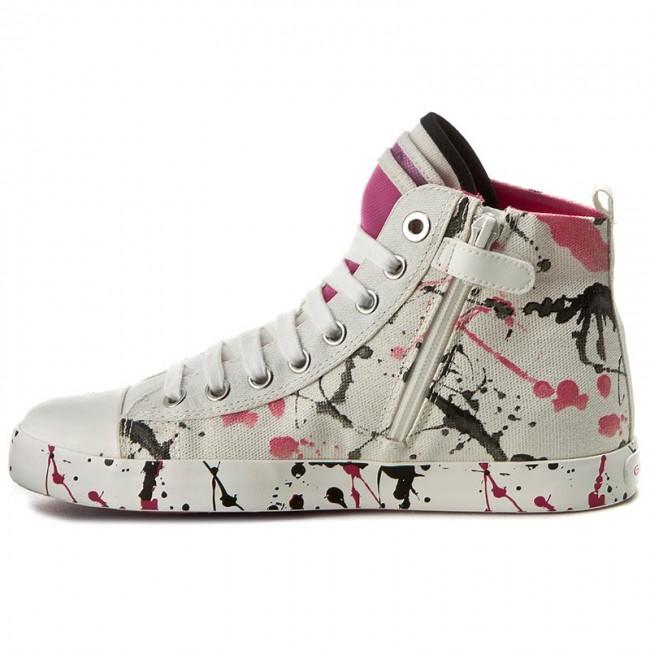 GEOX J7204C 000GF Jr Ciak Sneaker alta C0563 WHITE