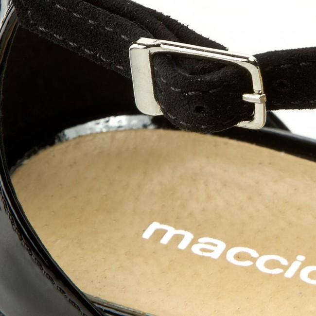 Sandali MACCIONI - 254 Czarny Zamsz - Sandali da da da giorno - Sandali - Ciabatte e sandali - Donna | Esecuzione squisita  | Uomo/Donna Scarpa  f118f7