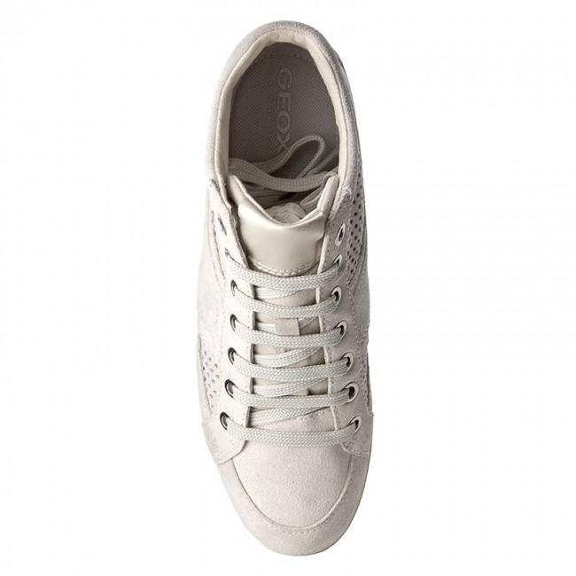 Sneakers GEOX D Myria B D7268B 07722 C1002 SzaryBiały