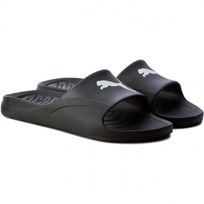 Puma da uomo black white divecat slide sandals