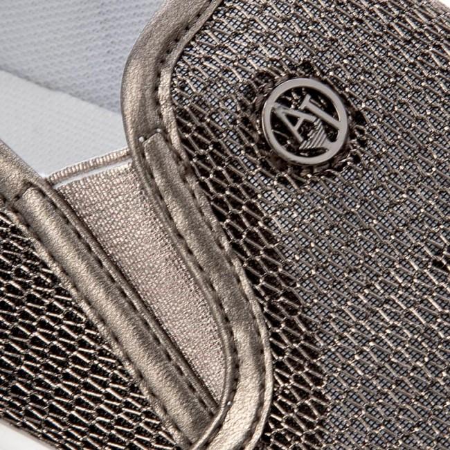 Scarpe sportive ARMANI JEANS - 925195 7P583 40820 Gun Metal - Scarpe ... ea73e097699