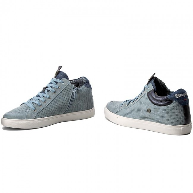 Ivy Jeans Wf07802sp Wrangler Punch 384 Mid Sneakers Blue pfzq5n