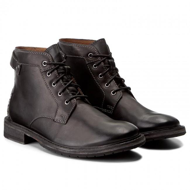 Stivali CLARKS - Clarkdale Bud 261277767 Black Leather - Stivali - Stivali e altri - Uomo