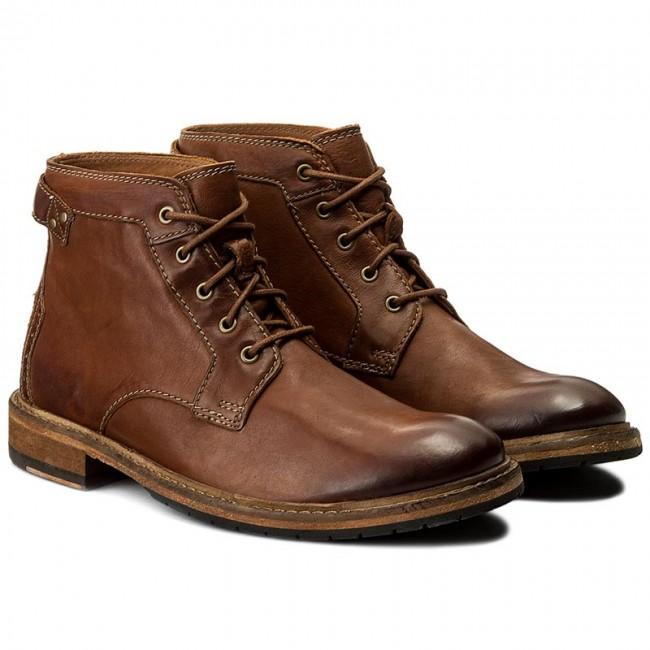 Clarks Clarkdale Bud, Stivali Classici Uomo Dark Tan Leather