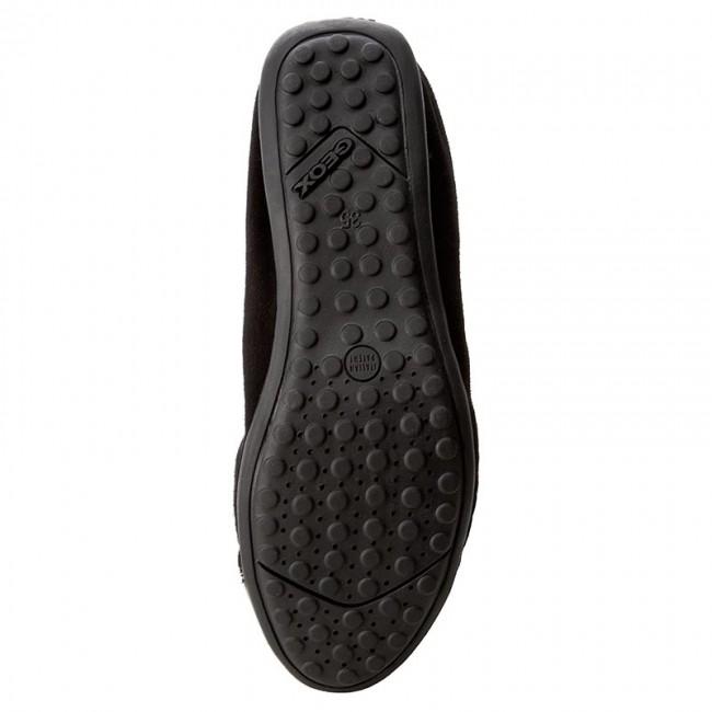 Flats GEOX D Piuma Bal A D44D8A 021HH C9999 Black