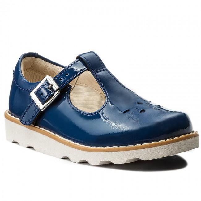 online retailer 1c860 591d6 Scarpe basse CLARKS - Crown Wish Inf 261269956 Blue Patent Leather