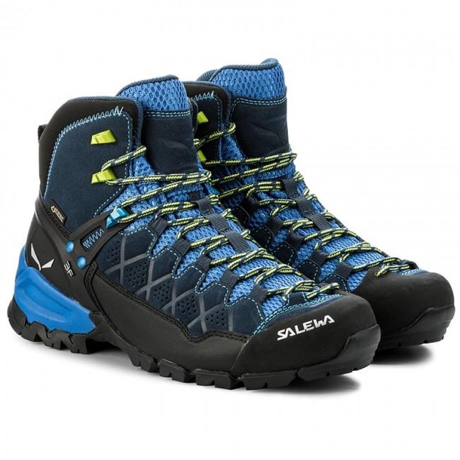 087cea4818ad9 Scarpe da trekking SALEWA - Alp Trainer Mid Gtx GORE-TEX 63432-0361 Dark  Denim Cactus 0361 - Scarpe da trekking e scarponcini - Stivali e altri -  Uomo ...