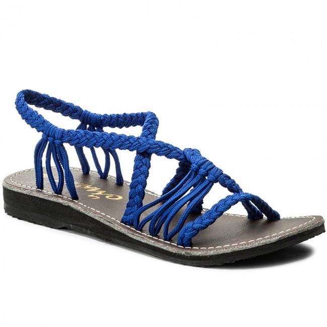Sandali LA MARINE - Idya Flat Bleu Electrique - Sandali da giorno ... c8325ef4bbb