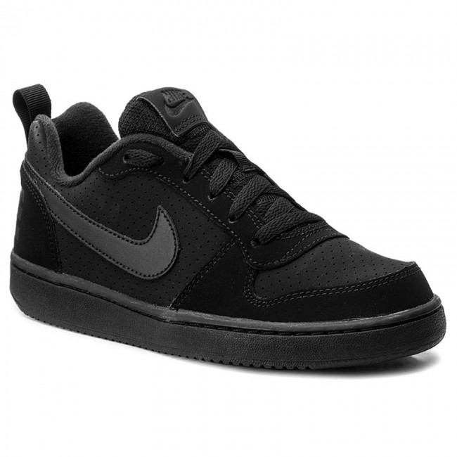 001 Blackblackblack Low Nike Borough Scarpe Court gs 839985 qpYKF