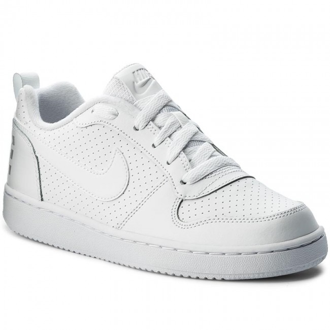 new styles 550a6 4ce83 Scarpe NIKE - Court Borough Low (GS) 839985 100 White/White/White ...