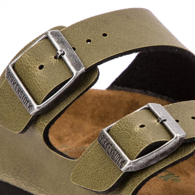 Ciabatte BIRKENSTOCK - Arizona BS 1009982 Pull Up Olive - Ciabatte ... d5216a989a5