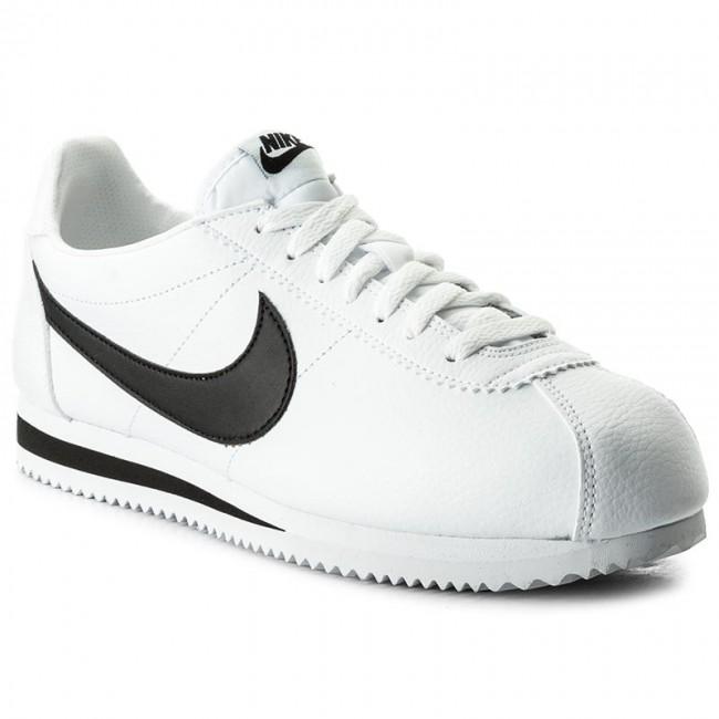 Nike 100 Cortez 749571 Whiteblack Classic Scarpe Leather 7q8dSU7xw