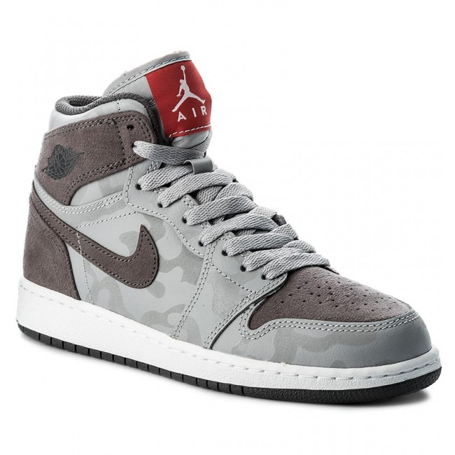 d61d374535 Scarpe NIKE - Air Jordan 1 Retro Hi Prem Bg 822858 027 Wolf Grey/Dark