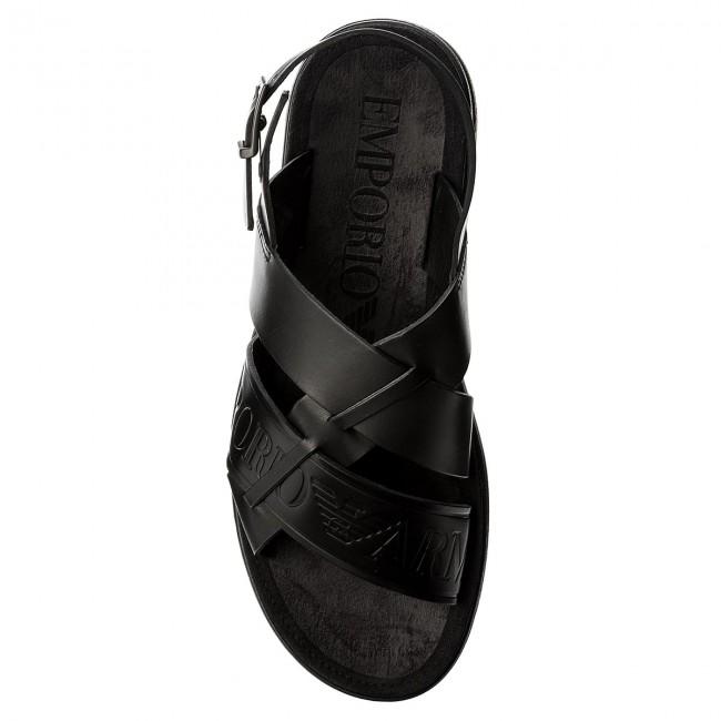 super popular 326ea 4c19c Sandali EMPORIO ARMANI - X4P061 XL271 K001 Black/Black