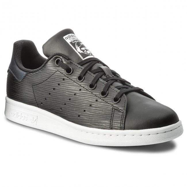 Scarpe adidas - Stan Smith J CM8191 Cblack/Cblack/Silvmt
