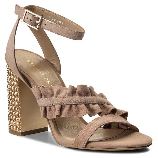 Sandali BRUNO PREMI - Camoscio + Tacco R3002X  Nude Platino  - Sandali da giorno - Sandali - Ciabatte e sandali - Donna   Apparenza Estetica    Uomo/Donna Scarpa