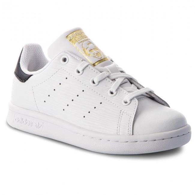 Scarpe adidas - Stan Smith C CM8178 Ftwwht/Ftwwht/Goldmt