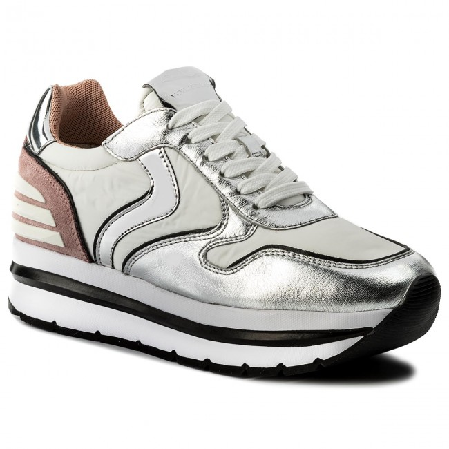 Sneakers VOILE BLANCHE - May Power 0012012434.04.9132 Argento Bianco Pesca 9a4011b6fcb