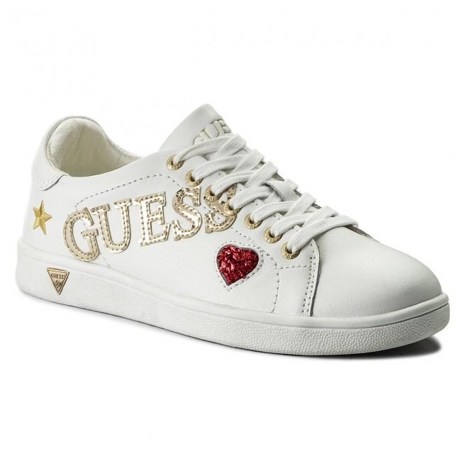 Sneakers GUESS - Super FLSPE1 LEA12 WHITE - Sneakers - Scarpe basse ... 099ef0d33e4