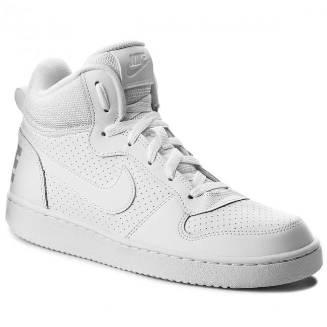 sports shoes 44a61 9065a Scarpe NIKE - Court Borough Mid (GS) 839977 100 White/White/White ...