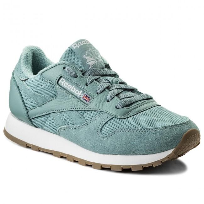 Scarpe Reebok - Cl Leather Estl BS9724 Whisper Teal White - Sneakers ... bbd58e4c1b5