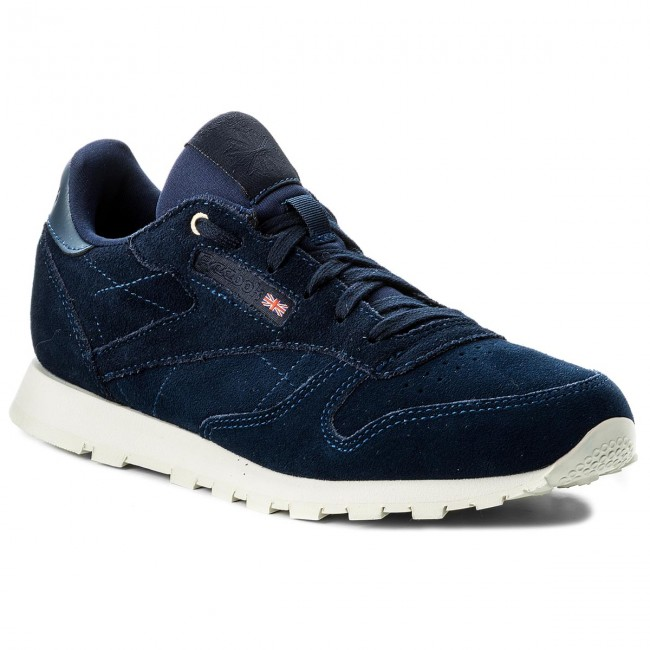 Scarpe Reebok - Cl Leather Mcc CN0001 blu Note Chalk - scarpe da ginnastica - Scarpe basse - Donna   acquisto speciale    Scolaro/Signora Scarpa